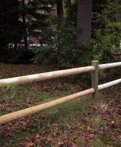 round cedar post fence