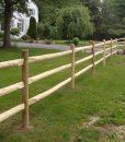 round cedar post fencing