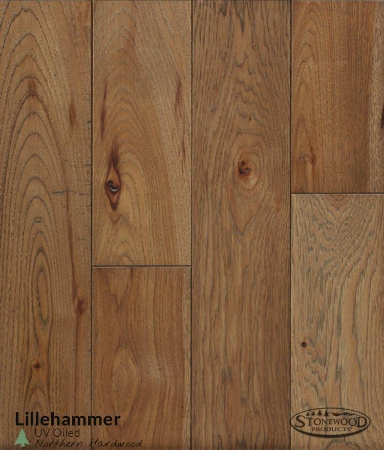 UV Oiled Hickory Flooring Lillehammer