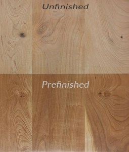 Wood flooring types hardwood flooring glossary for Hardwood flooring prefinished vs unfinished
