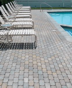 Vineyard Blend Aqua Bric Pool Stone Pavers