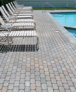 Vineyard Blend Aqua Bric Pool Stone Pavers