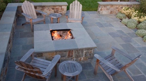 Custom gas fire pits propane natural gas fire pits for Fireplace on raised deck