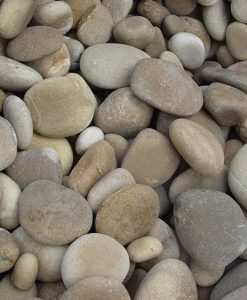 1-3 inch beach pebbles tan