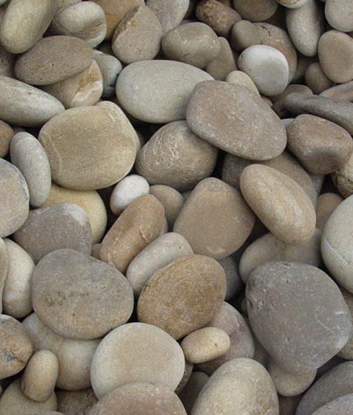 1-3 inch beach pebbles tan