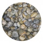 Tiger stripe polished beach pebbles
