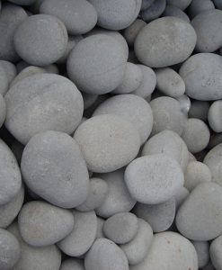 1-3 inch beach pebbles white