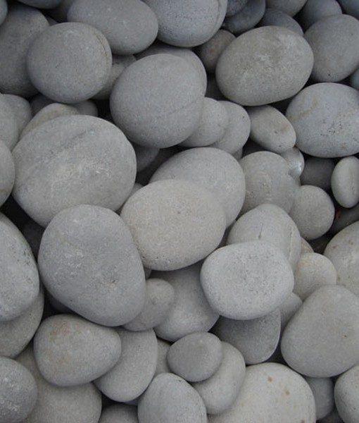 1-3 inch beach pebbles white