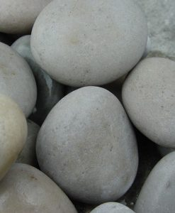 1-3 inch beach pebbles white polished