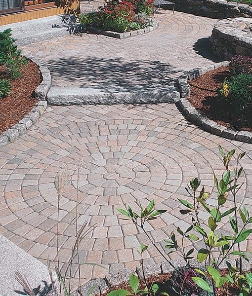 Quarry Blend Circle Pavers