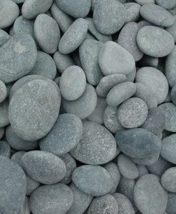 1-2 inch beach pebbles black