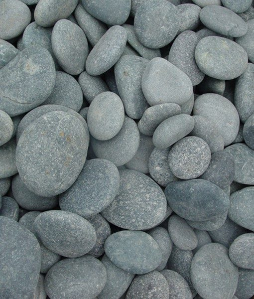 1-2 inch beach pebbles black