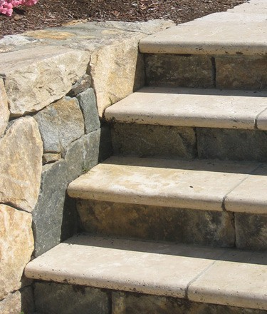 Travertine Treads Bullnose