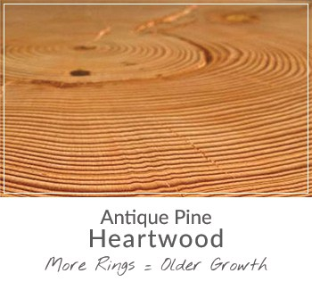 reclaimed antique heart pine wood