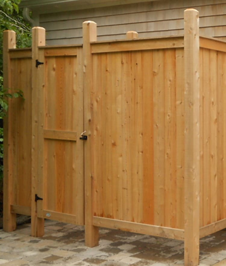 cedar outdoor shower posts