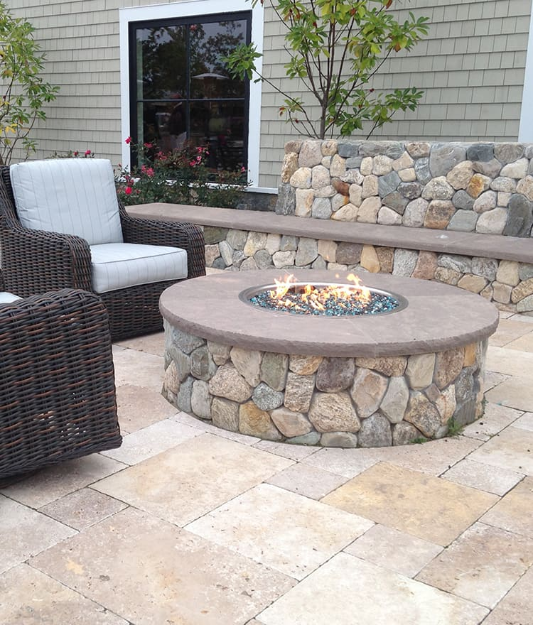 custom gas fire pits propane natural gas fire pits cape cod. Black Bedroom Furniture Sets. Home Design Ideas