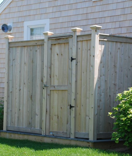 Deluxe Outdoor Cedar Shower Kit Yarmouth MA