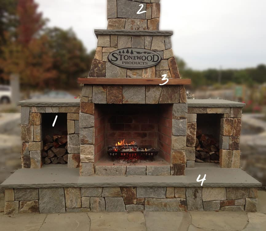 Outdoor fireplaces stonewood products for Prefabricated outdoor fireplace kits