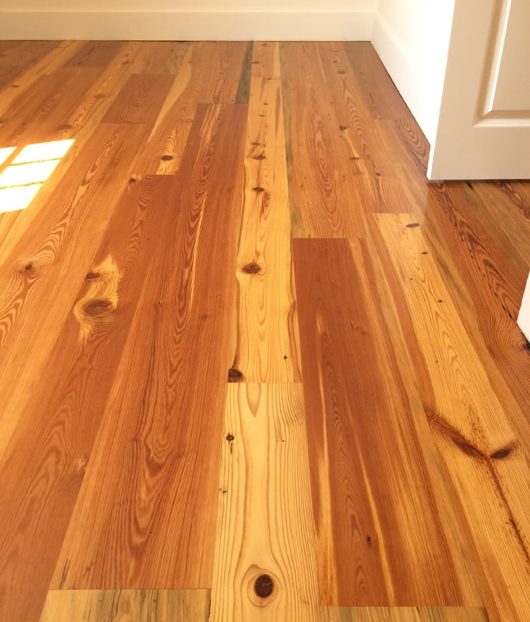 Reclaimed antique heart pine wood flooring cape cod ma for Reclaimed flooring