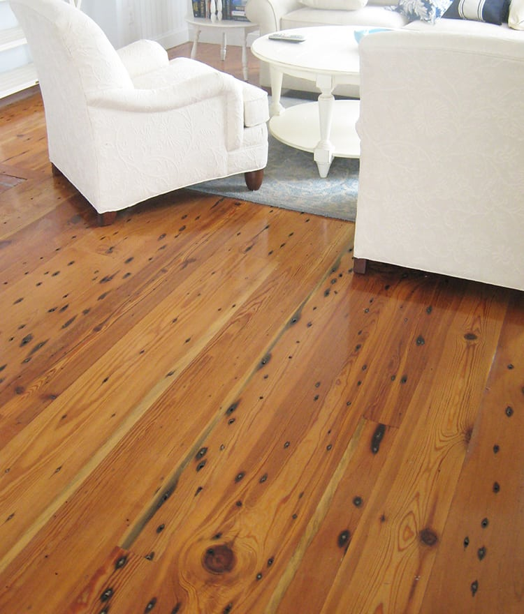 Reclaimed wood flooring for Tobacco pine flooring