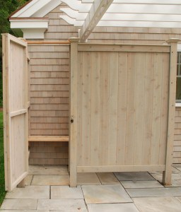 Outdoor Shower Kit with stain