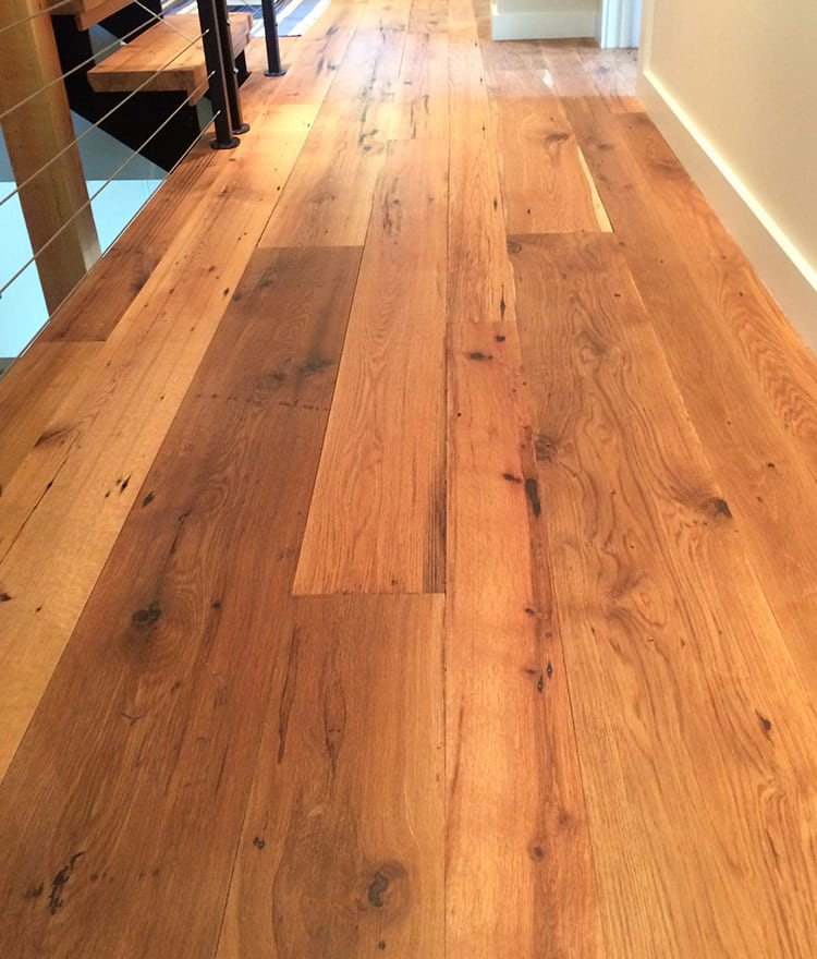 Reclaimed wood flooring pine oak more for Reclaimed flooring
