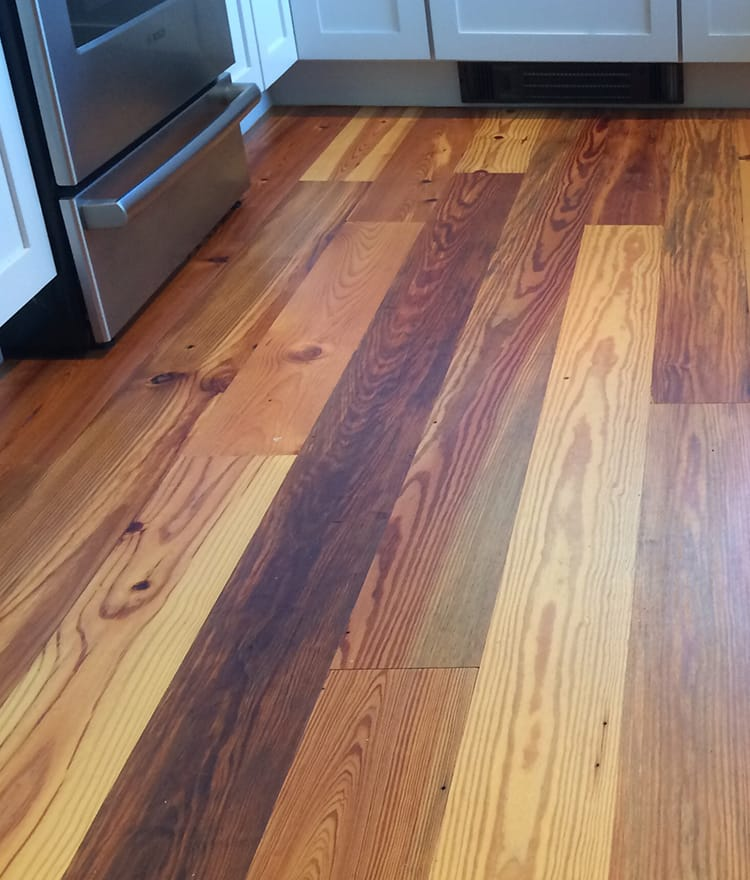 Reclaimed antique heart pine wood flooring cape cod ma Salvaged pine flooring
