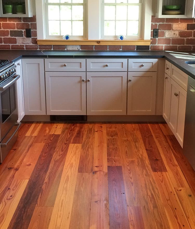 Reclaimed antique heart pine wood flooring cape cod ma for Flooring cape cod