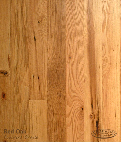 Prefinished red oak hardwood flooring for Red oak hardwood flooring