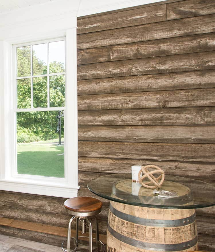 Barn wood siding barnwood reclaimed look salvaged for Recycled wood siding