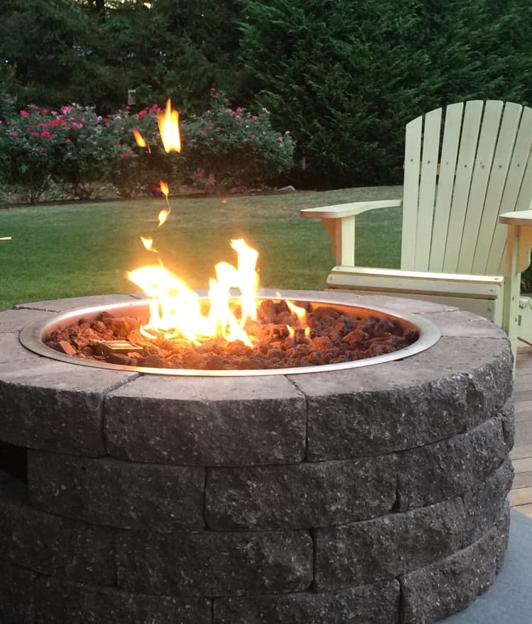 Gas Firepit Kit Bayview - Cape Cod Series - Gas Fire Pit Kit Propane & Natural Gas Cape Cod Fire Pits MA
