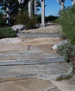 granite flagging step walkway
