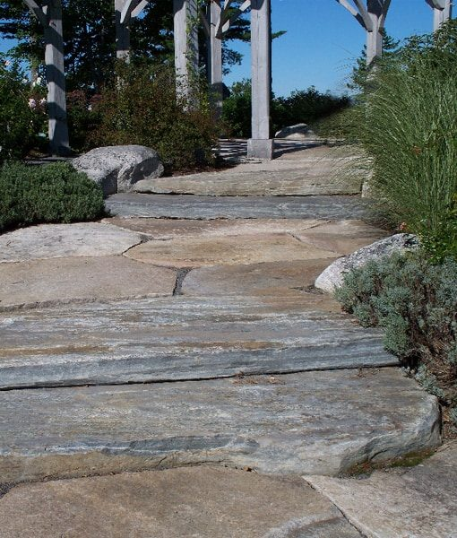 granite flagging step walkway