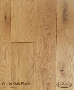 white oak plank flooring