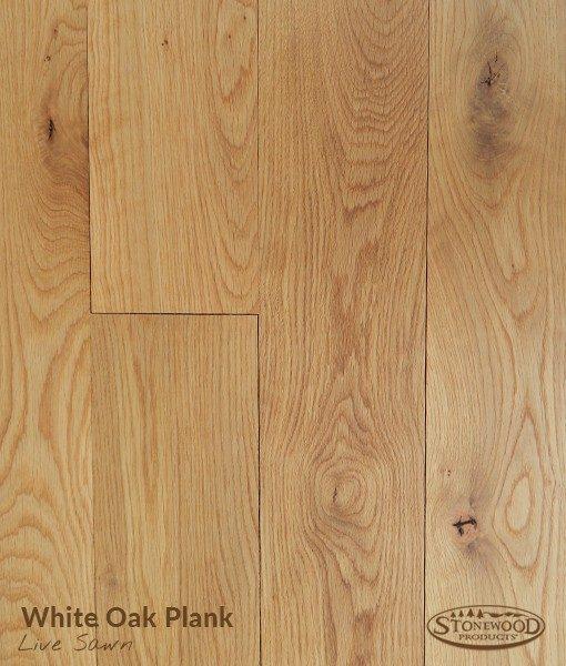 white oak plank flooring
