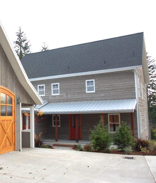 Exterior Barn Wood Siding Application with Barn Grey