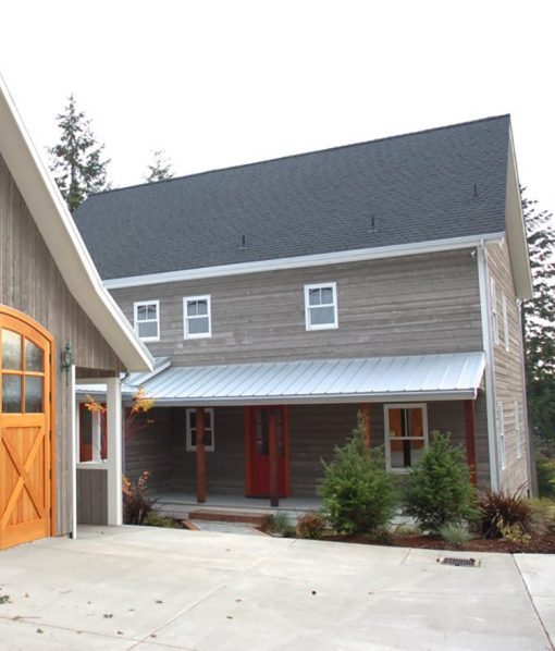Exterior Barn Wood Siding Application with Barn Grey