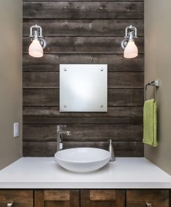 Wallboarding Accent with Barn Wood Siding Prairie Brown