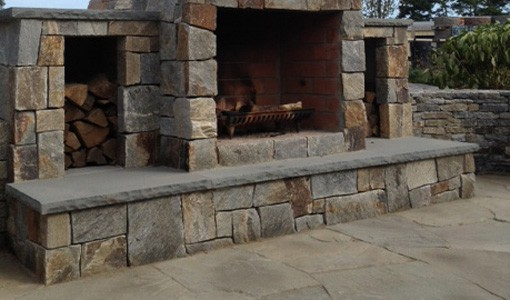 A Hearth Really Completes The Look Of An Outdoor Fireplace