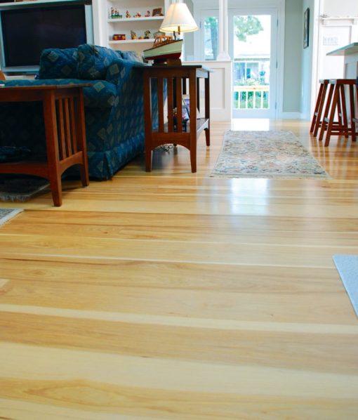 hickory plank floor marthas vineyard