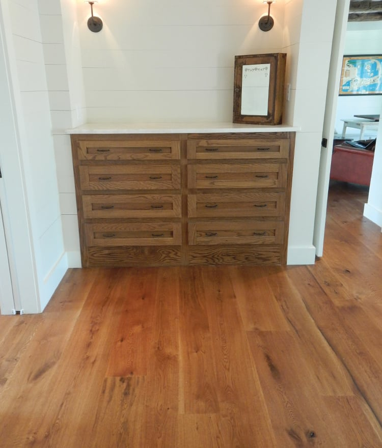 White Oak Planks ~ White oak plank flooring live sawn