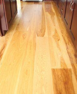hickory plank floor