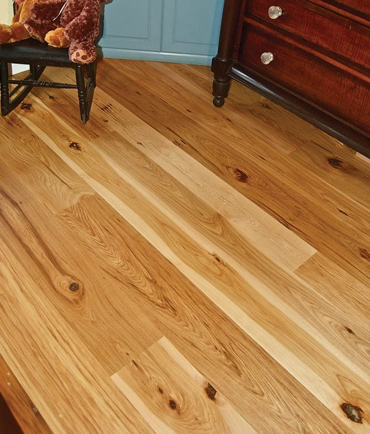 Rustic hickory plank flooring for Hickory flooring