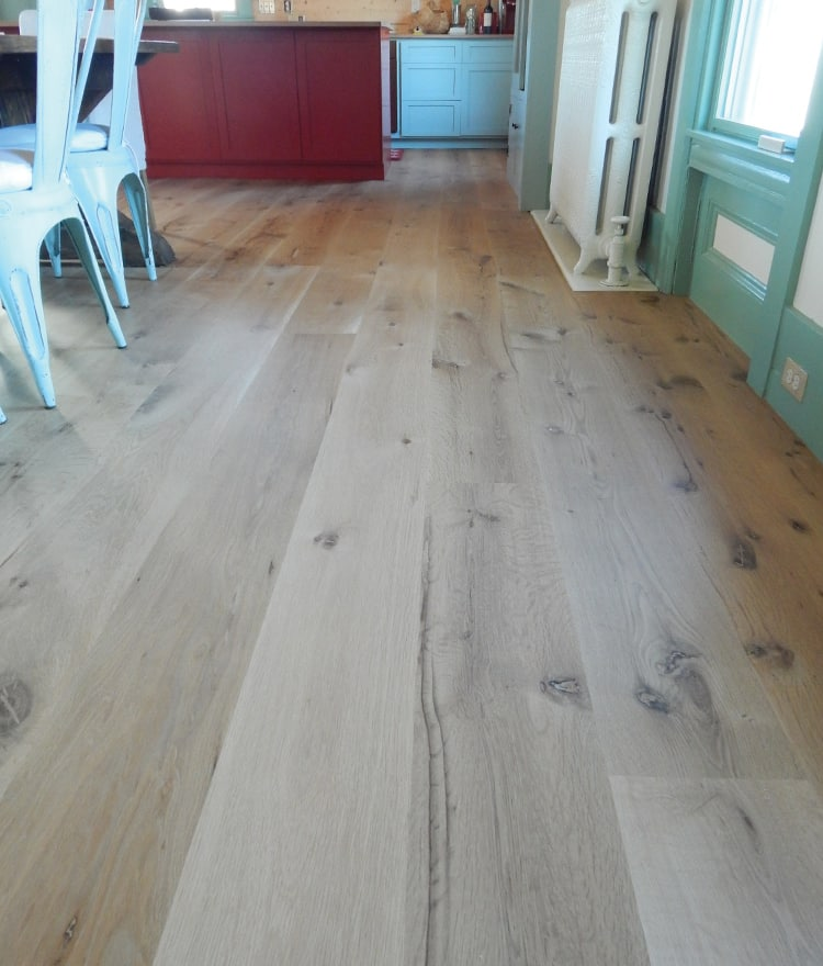 Wood Flooring Product : White oak plank flooring live sawn