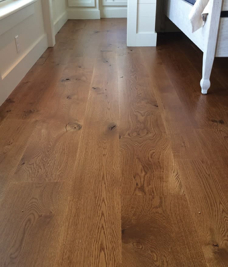 White oak plank flooring live sawn for Hardwood decking planks
