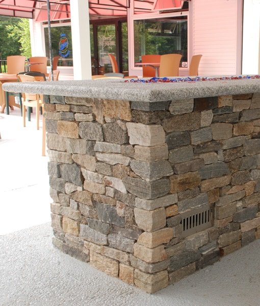 rectangular gas fire pit