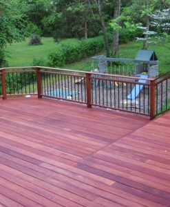 Red balau decking