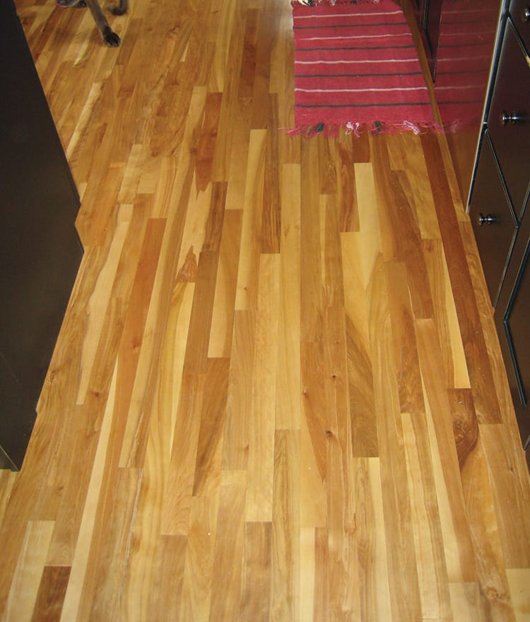 Red birch hardwood flooring