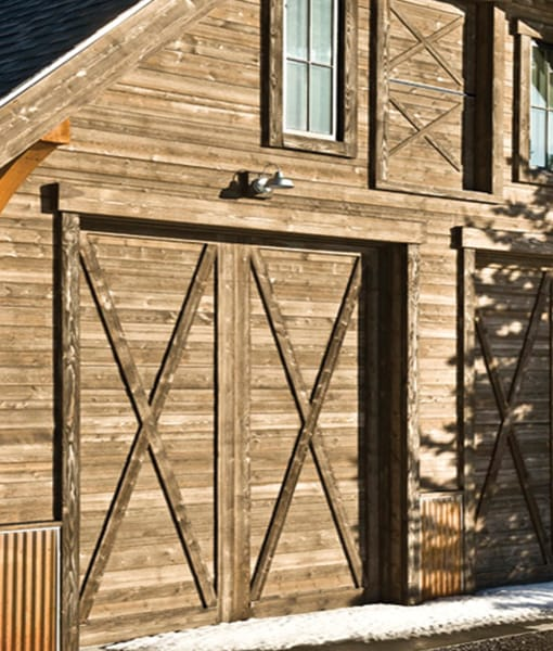 Barn wood siding salvaged reclaimed look prairie brown for Wood look siding