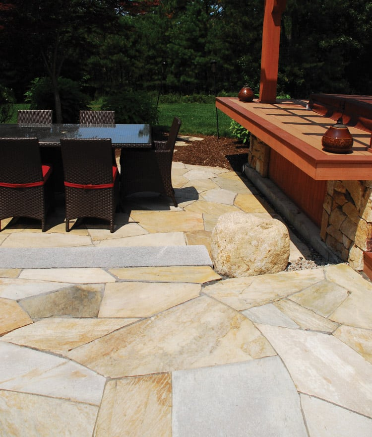 Natural Stone Pavers Irregular Style